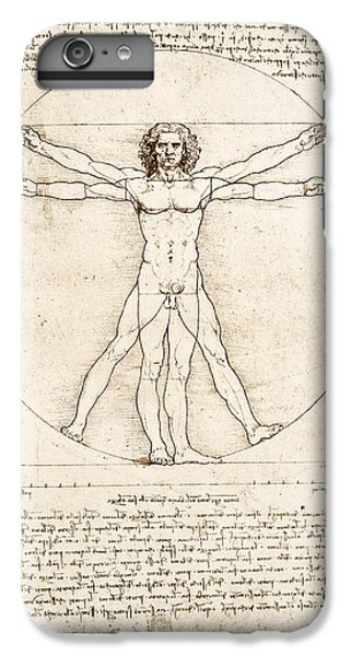 Nudes iPhone 8 Plus Case - The Proportions Of The Human Figure by Leonardo Da Vinci