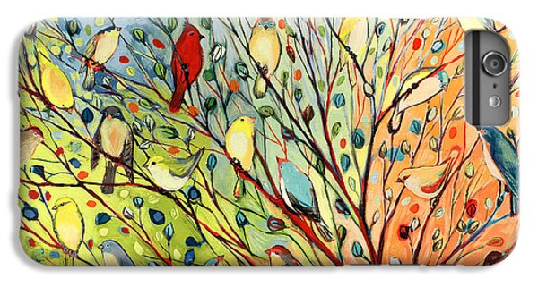 Red iPhone 8 Plus Case - 27 Birds by Jennifer Lommers