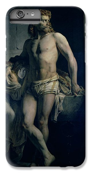 Dungeon iPhone 8 Plus Case - A Gaul And His Daughter Imprisoned In Rome by Felix-Joseph Barrias