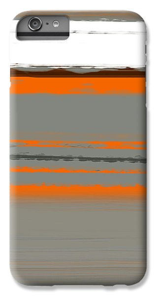 Contemporary iPhone 8 Plus Case - Abstract Orange 2 by Naxart Studio