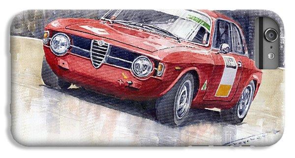 Red iPhone 8 Plus Case - Alfa Romeo Giulie Sprint Gt 1966 by Yuriy Shevchuk