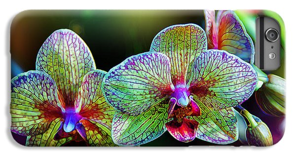 Orchid iPhone 8 Plus Case - Alien Orchids by Bill Tiepelman
