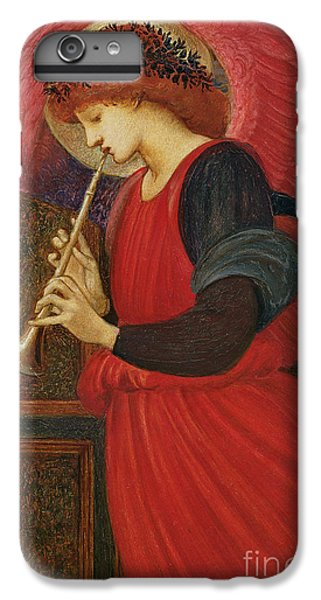 Trumpet iPhone 8 Plus Case - An Angel Playing A Flageolet by Sir Edward Burne-Jones