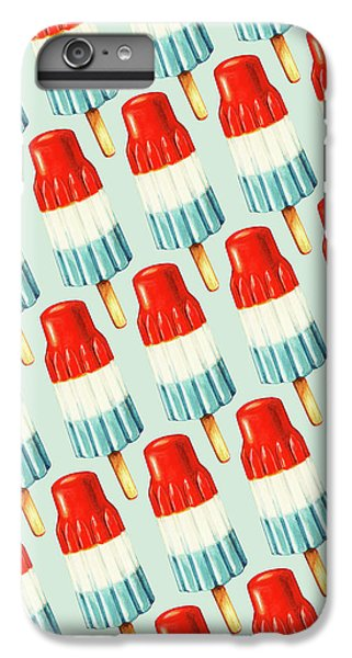Red iPhone 8 Plus Case - Bomb Pop Pattern by Kelly Gilleran