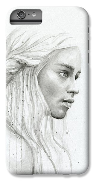 Dragon iPhone 8 Plus Case - Daenerys Watercolor Portrait by Olga Shvartsur