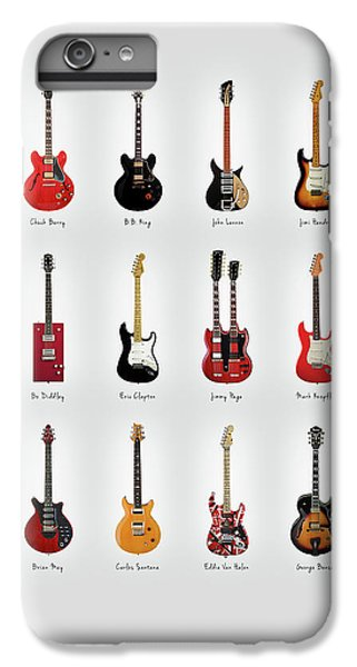 Rock And Roll iPhone 8 Plus Case - Guitar Icons No1 by Mark Rogan