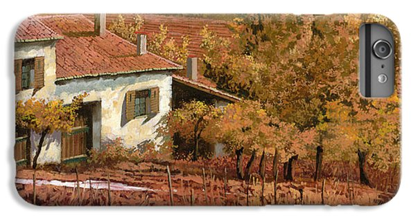 Rural Scenes iPhone 8 Plus Case - Autunno Rosso by Guido Borelli
