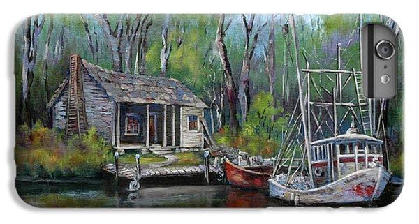 Shrimp Boats iPhone 8 Plus Case - Bayou Shrimper by Dianne Parks