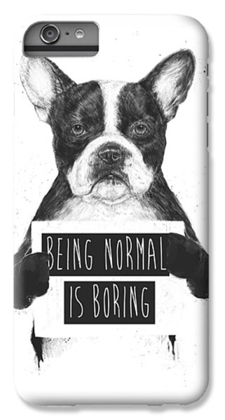 Dog iPhone 8 Plus Case - Being Normal Is Boring by Balazs Solti