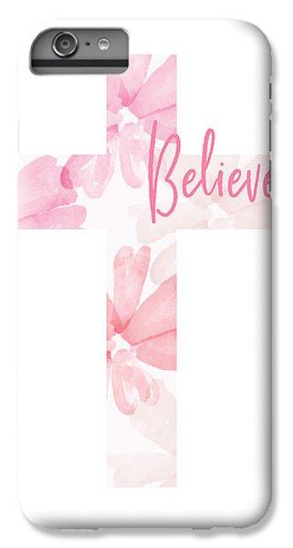 Cross iPhone 8 Plus Case - Believe Floral Cross- Art By Linda Woods by Linda Woods