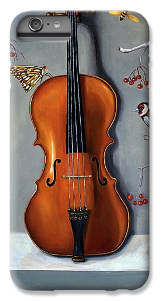 Violin iPhone 8 Plus Case - Bird Song by Leah Saulnier The Painting Maniac
