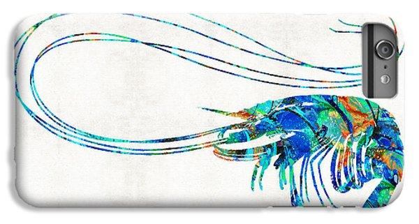 Scuba Diving iPhone 8 Plus Case - Blue Shrimp Art By Sharon Cummings by Sharon Cummings