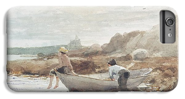 Boat iPhone 8 Plus Case - Boys On The Beach by Winslow Homer