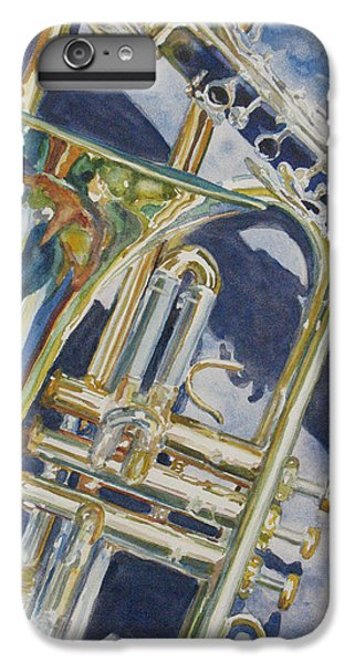 Trombone iPhone 8 Plus Case - Brass Winds And Shadow by Jenny Armitage