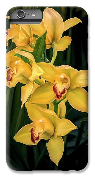 Orchid iPhone 8 Plus Case - Bright Yellow Orchids by Tom Mc Nemar