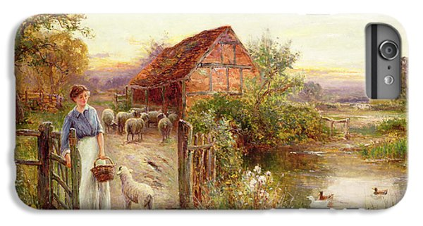 Rural Scenes iPhone 8 Plus Case - Bringing Home The Sheep by Ernest Walbourn