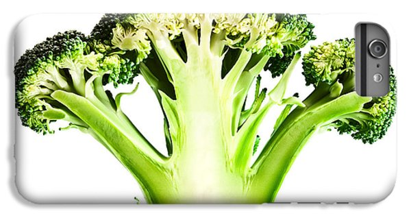 Cross iPhone 8 Plus Case - Broccoli Cutaway On White by Johan Swanepoel