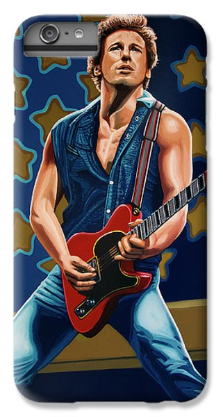 Musicians iPhone 8 Plus Case - Bruce Springsteen The Boss Painting by Paul Meijering