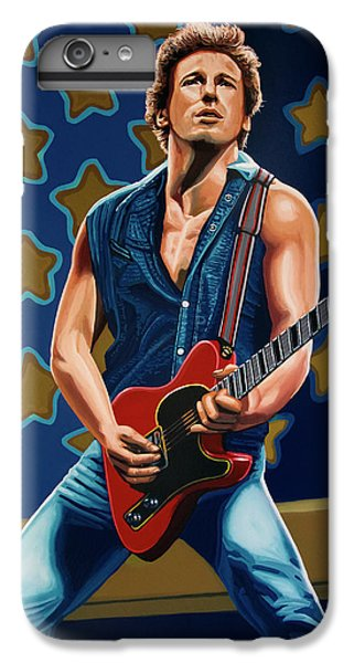 Rock And Roll iPhone 8 Plus Case - Bruce Springsteen The Boss Painting by Paul Meijering