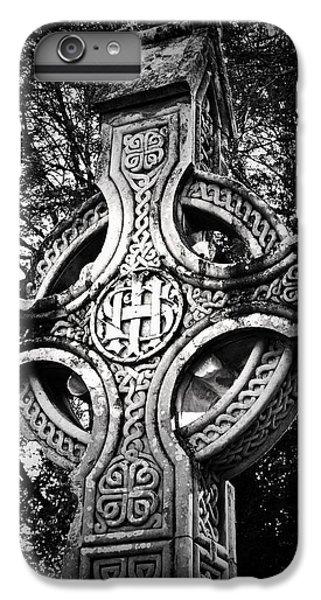 Celtic Cross iPhone 8 Plus Case - Celtic Cross Detail Killarney Ireland by Teresa Mucha
