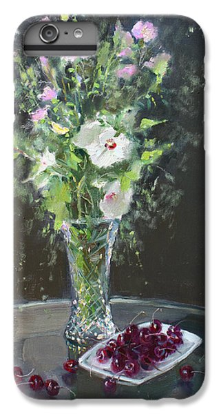 For iPhone 8 Plus Case - Cherries And Flowers For Her IIi by Ylli Haruni