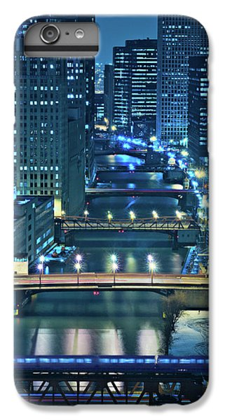 Chicago River iPhone 8 Plus Case - Chicago Bridges by Steve Gadomski