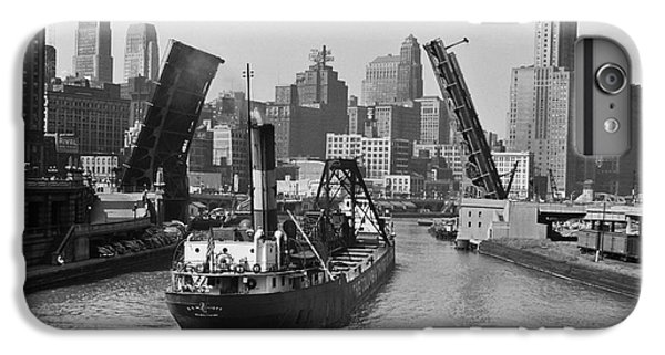 Chicago River iPhone 8 Plus Case - Chicago River 1941 by Daniel Hagerman