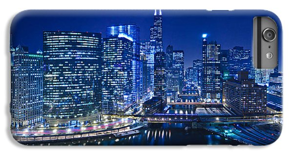 Chicago River iPhone 8 Plus Case - Chicago River Panorama by Steve Gadomski