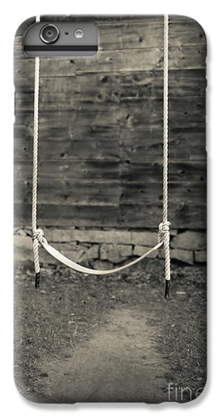New England Barn iPhone 8 Plus Case - Child's Swing On An Old Farm by Edward Fielding
