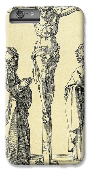 Cross iPhone 8 Plus Case - Christ On The Cross With Mary And John The Baptist by Albrecht Durer