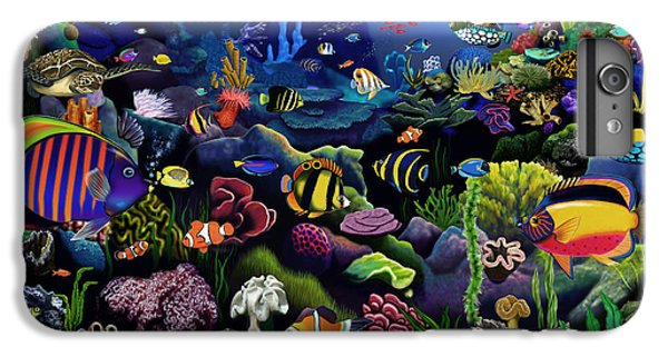 Scuba Diving iPhone 8 Plus Case - Colorful Reef by MGL Meiklejohn Graphics Licensing