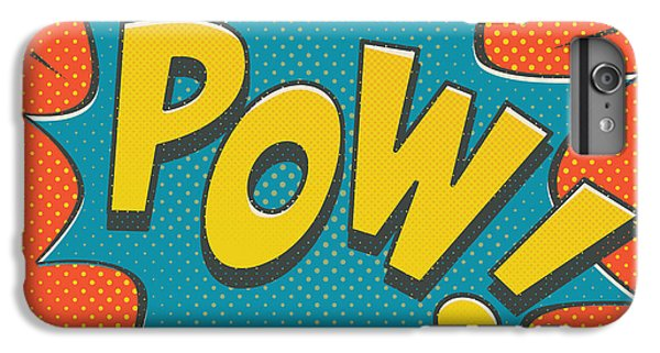 Red iPhone 8 Plus Case - Comic Pow by Mitch Frey
