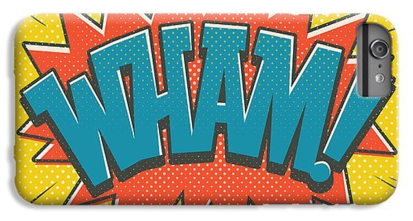 Red iPhone 8 Plus Case - Comic Wham by Mitch Frey