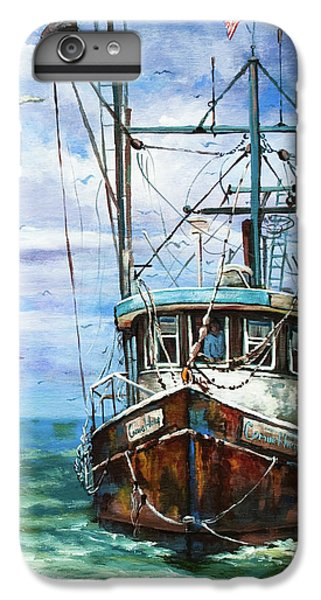 Shrimp Boats iPhone 8 Plus Case - Coming Home by Dianne Parks
