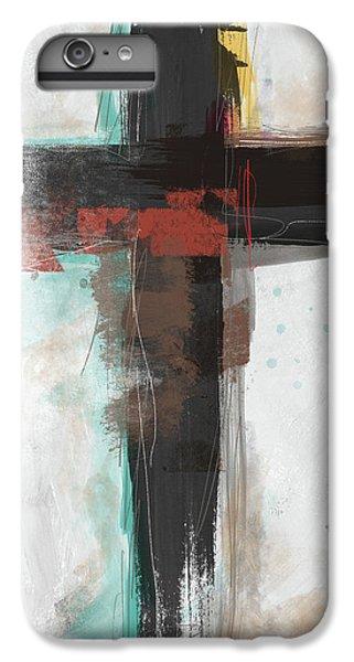 Cross iPhone 8 Plus Case - Contemporary Cross 1- Art By Linda Woods by Linda Woods