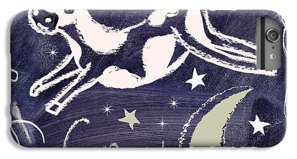 Cow iPhone 8 Plus Case - Cow Jumped Over The Moon Chalkboard Art by Mindy Sommers