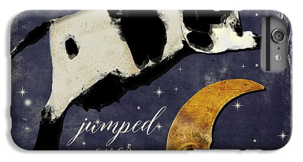 Cow iPhone 8 Plus Case - Cow Jumped Over The Moon by Mindy Sommers