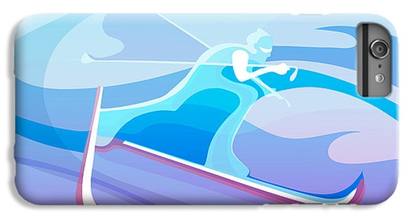 Cross iPhone 8 Plus Case - Cross County Skier Abstract by Sassan Filsoof