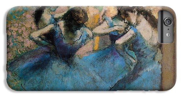 Impressionism iPhone 8 Plus Case - Dancers In Blue by Edgar Degas