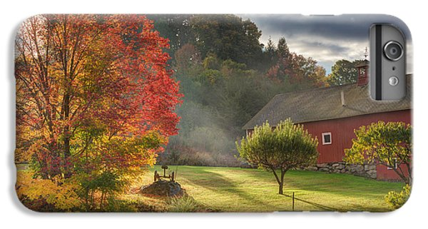 New England Barn iPhone 8 Plus Case - Early Autumn Morning by Bill Wakeley