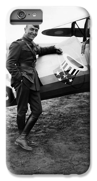 Airplane iPhone 8 Plus Case - Eddie Rickenbacker - Ww1 American Air Ace by War Is Hell Store