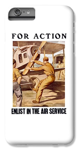 Airplane iPhone 8 Plus Case - Enlist In The Air Service by War Is Hell Store