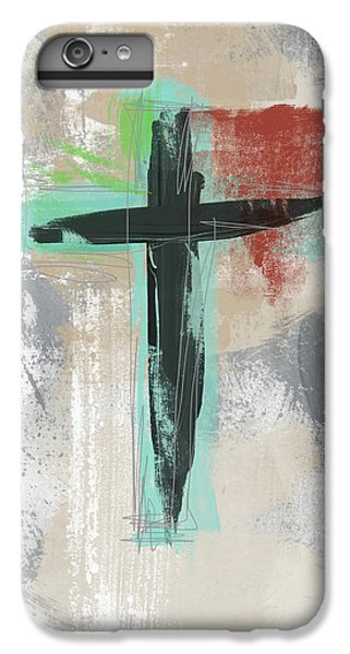 Cross iPhone 8 Plus Case - Expressionist Cross 3- Art By Linda Woods by Linda Woods