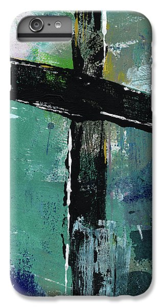 Cross iPhone 8 Plus Case - Expressionist Cross 8- Art By Linda Woods by Linda Woods