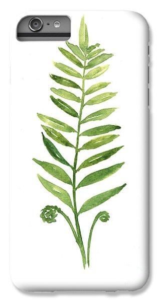 Garden iPhone 8 Plus Case - Fern Leaf Watercolor Painting by Joanna Szmerdt