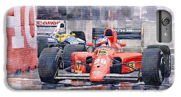 Car iPhone 8 Plus Case - 1991 Ferrari F1 Jean Alesi Phoenix Us Gp Arizona 1991 by Yuriy Shevchuk