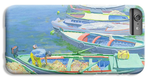 Boat iPhone 8 Plus Case - Fishing Boats by William Ireland