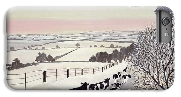 Rural Scenes iPhone 8 Plus Case - Friesians In Winter by Maggie Rowe