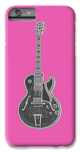 Guitar iPhone 8 Plus Case - Gibson Es-175 Electric Guitar Tee by Edward Fielding