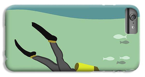 Scuba Diving iPhone 8 Plus Case - Going Deep by Nicole Wilson